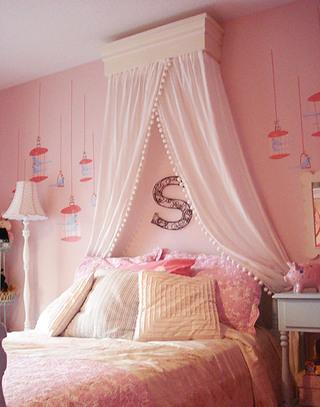 气质粉色女孩房设计图
