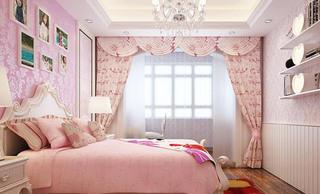 可爱粉色女孩房装修
