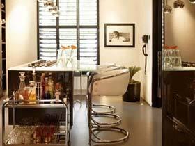 厨房的休闲一角 10图多工能吧台设计参考图