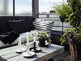 漏出来的浪漫时光  10款北欧风阳台装修设计实景图