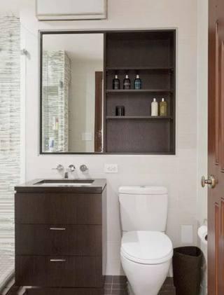 简约卫生间木色简约图片