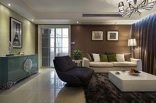 85平品质简约风格装修简约客厅