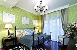 绿色简欧混搭风格卧室装修