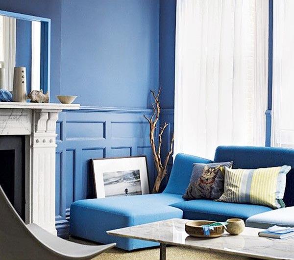 蓝色系客厅装饰效果图