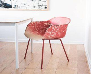 红色创意沙发椅平面图