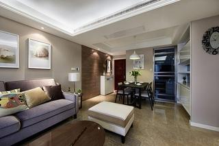 86平简约风格装修简洁客厅设计图