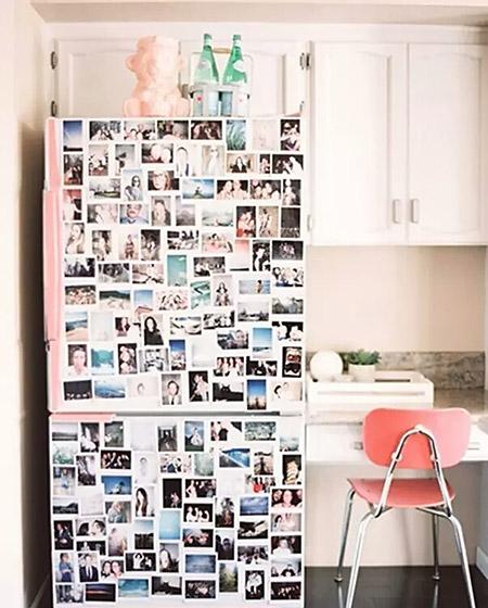 可爱厨房冰箱贴纸效果图