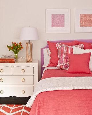 粉色系卧室设计布置图