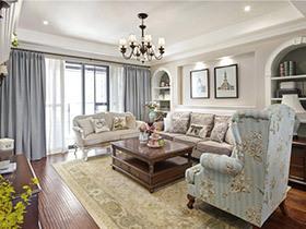 138平美式风格四房装修效果图 神秘花园