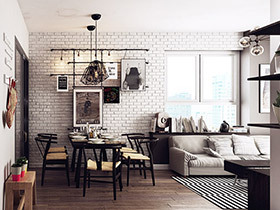 80平混搭风格两室两厅装修 活力与跳跃