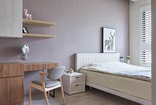 清新浅紫色宜家风卧室效果图