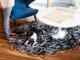 客厅亮眼配角  10个客厅地毯设计图片