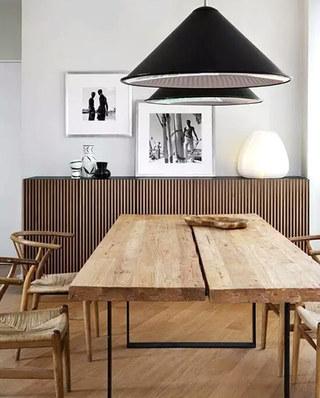 日式风格餐厅木质餐厅效果图