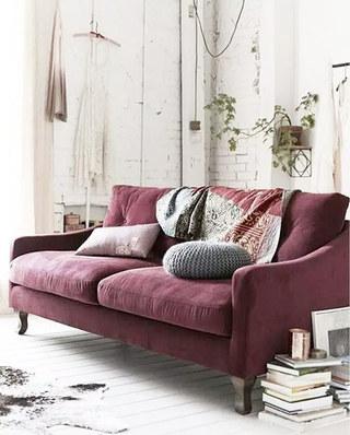 紫色优雅客厅沙发设计图
