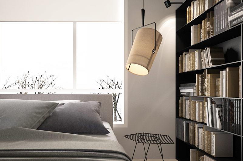 简约风格三居室卧室灯具图片