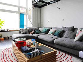 公司帅哥的家 loft单身公寓很个性