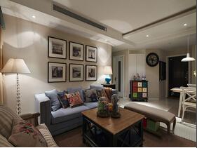 美式风格三居室装修 精致中的舒适感