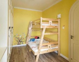 清新柠檬黄美式儿童房设计