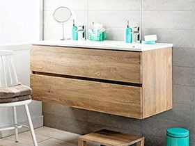 11个简约风格浴室柜效果图 原木添清新