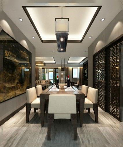 饭厅厅吊顶装修装饰效果图