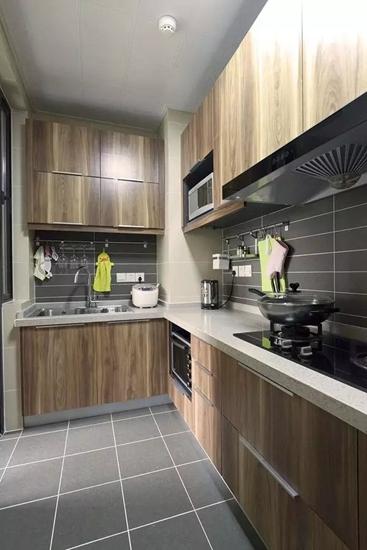 日式风格小户型厨房整体橱柜设计
