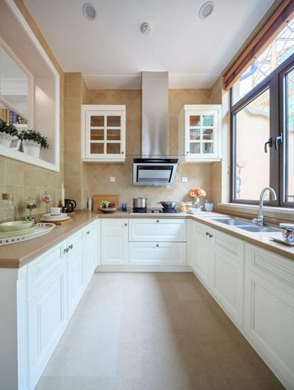 欧式风格装修厨房整体橱柜装修