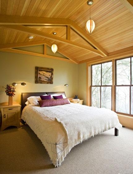 卧室木质吊顶装修效果图