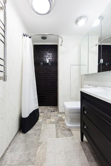 黑白简约风卫生间设计
