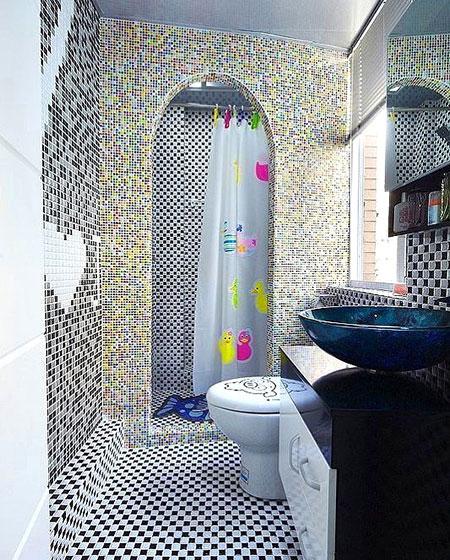 卫生间背景墙瓷砖设计图片