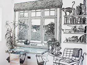 开启艺术之门  11个手绘背景墙设计图
