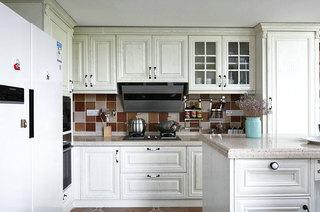 精致乡村美式 厨房橱柜效果图