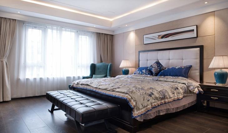 美式风格装修床头软包设计