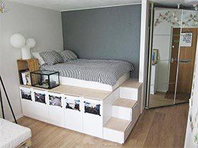 收纳优美两不误  10个卧室地台设计图片