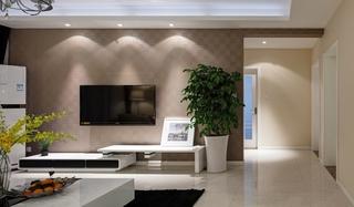 咖啡色的甜蜜空间 最爱简约风格装修电视背景墙
