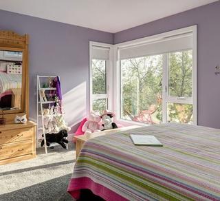 浪漫紫简约风儿童房实景图