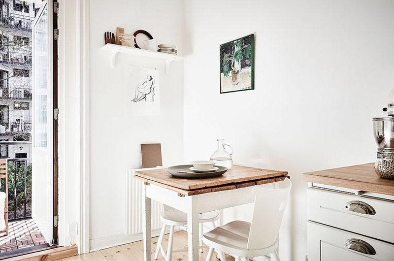 北欧风格公寓厨房餐厅一体装修