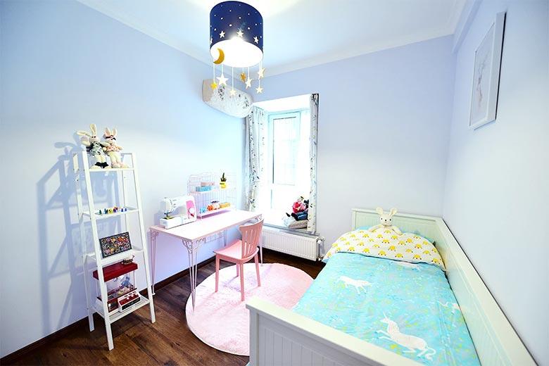 浪漫浅紫色简美式 儿童房效果图