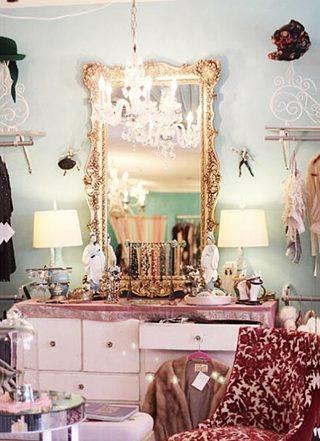 粉色梳妆台设计i平面图