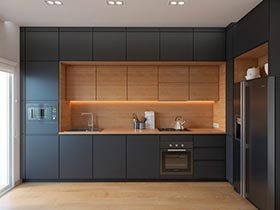 做出绅士风度  10款黑色系厨房设计图