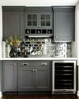 美式风格灰色厨房装修图