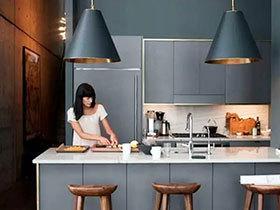 10个灰色厨房装修效果图 经典厨房流行色