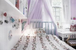 甜美浪漫宜家风 紫色儿童房装饰图