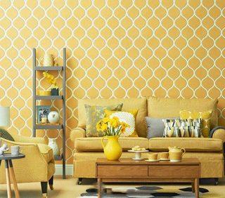 黄色系背景墙设计平面图