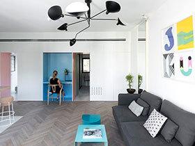 55平小两居室装修效果图 感受色彩的魔力