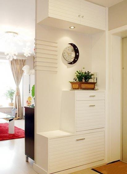 白色玄关柜布置图片大全