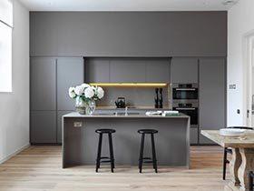 冷静的美食  10个灰色系厨房装修效果图