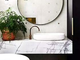 10个大理石卫生间洗手台效果图 时尚美观