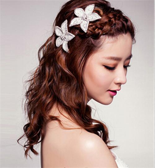 唯美新娘发型图片大全  怎么做新娘发型