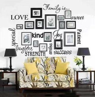 艺术照片墙平面图