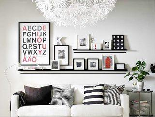 客厅照片墙摆放图片